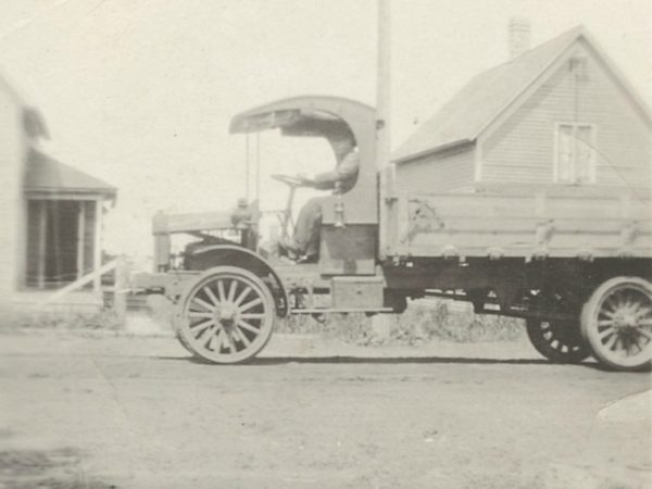 Joe Eno delivering milk in Newton Falls