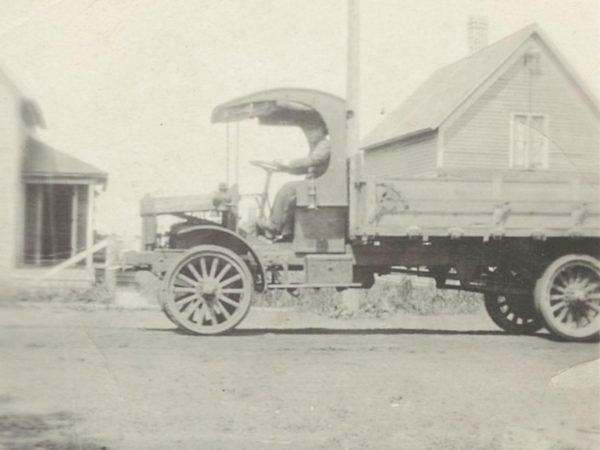 Joe Eno delivering milk in Newton Falls