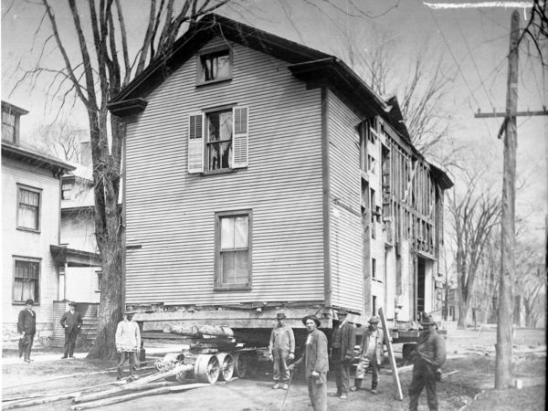 Moving Stanton House in Plattsburgh
