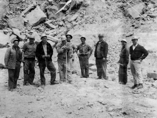 Daytime blasting crew of Benson Mines
