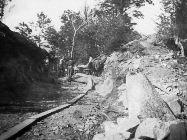 Digging a rock cut between Jayville and Newton Falls