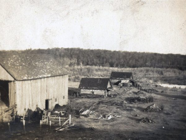 Logging camp in the town of Webb.