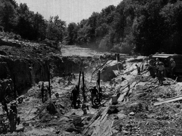 In the early stages of construction at Blake Falls in Parishville