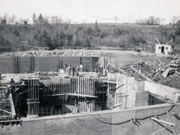 Construction site at the powerhouse in South Colton