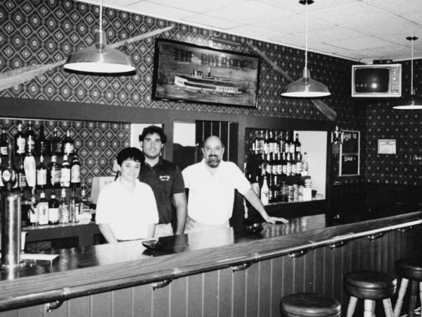 Bartenders at the Riverside Café in Clayton