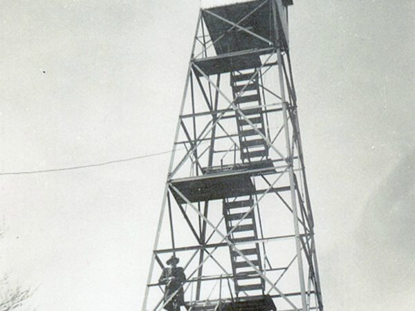 Working on the Moose River Mountain Fire Tower near Thendara