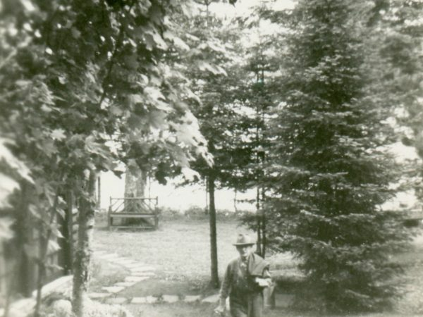 Caretaker of Schimmel Camp on Rondaxe Lake near Old Forge