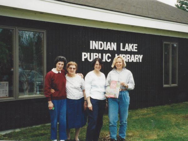 Employees at the Indian Lake Public Library