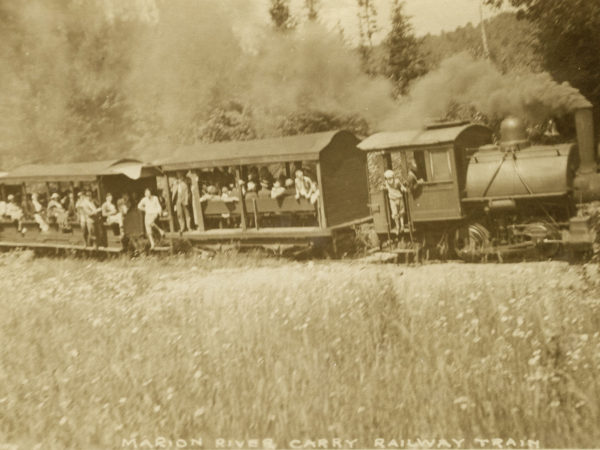 Railrawy train on the Marion River Carry