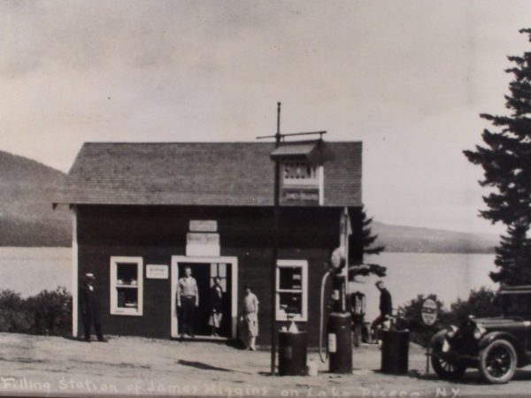 Filling station in Lake Piseco