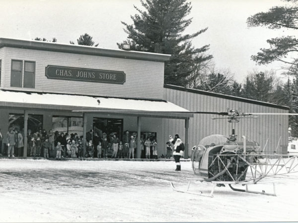 Charlie Johns' Store at Christmas in Speculator