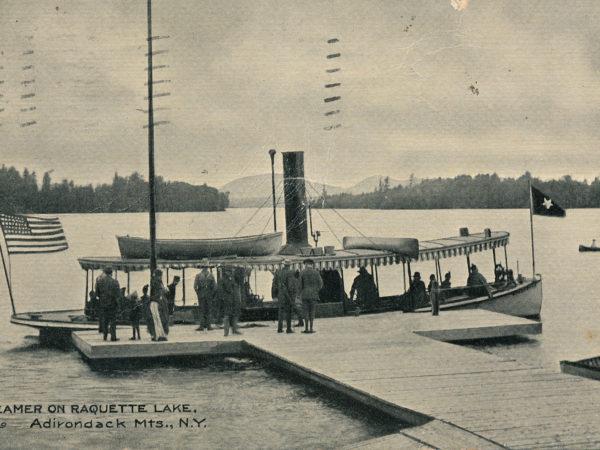 "The steamer ""Killoquah"" on Raquette Lake"