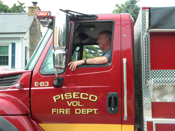 Volunteer fireman Mike Romanych in Piseco