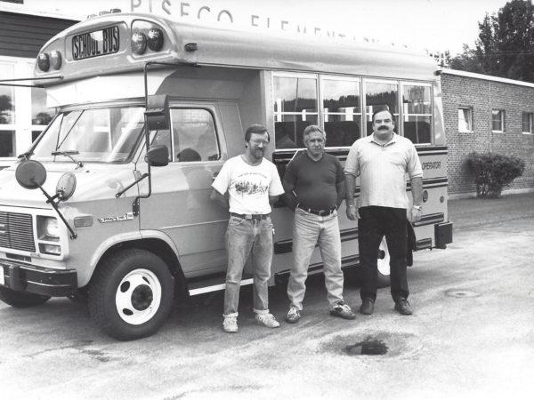 School bus drivers in Piseco