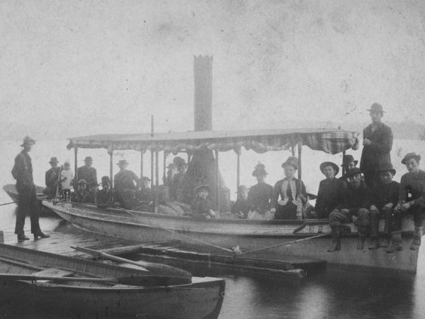 A steamer on Piseco Lake