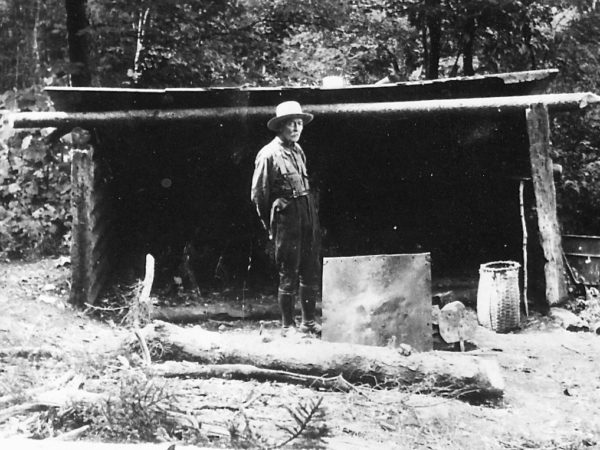 A logger and woodsman in Benson