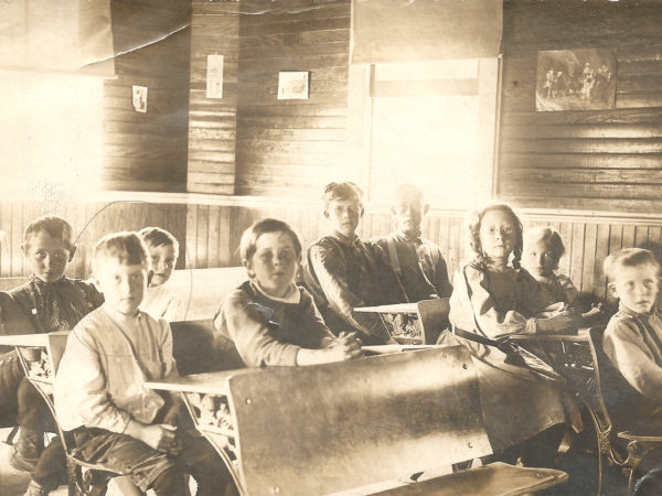 Students at the Hope Falls school
