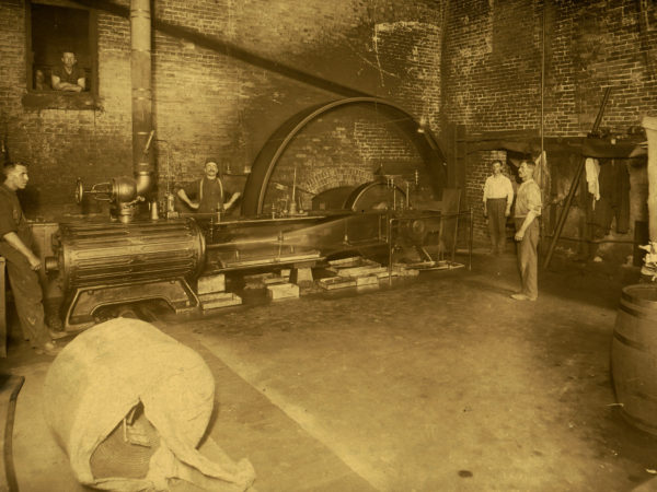 Inside the engine room of the Island Paper Company in Carthage