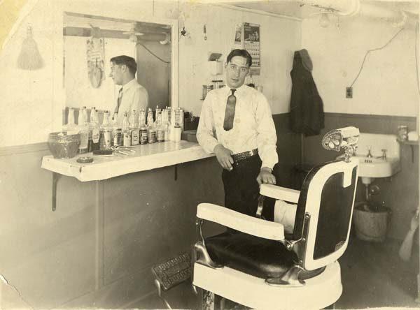 Roland Douglas inside his barbershop in Lake Placid