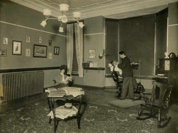 Dentist at work inside Prospect House in Blue Mountain Lake