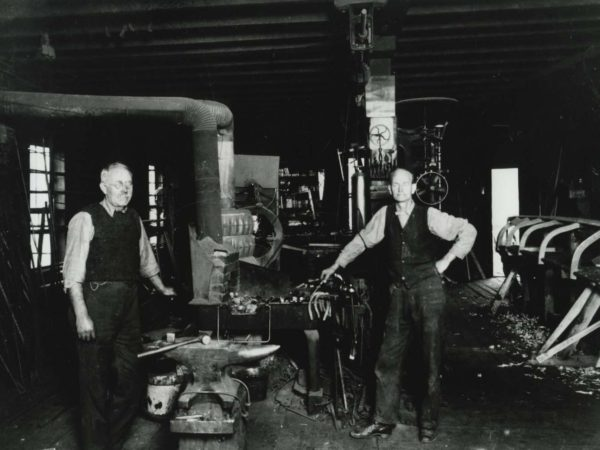 Interior of John F. Buyce Boat Shop in Speculator