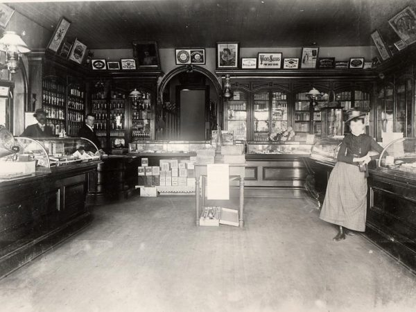 Interior of Mould's Drug Store in Keeseville