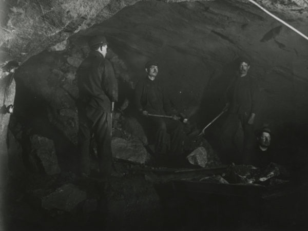 Operating a diamond drill at the Joker Mine in Mineville