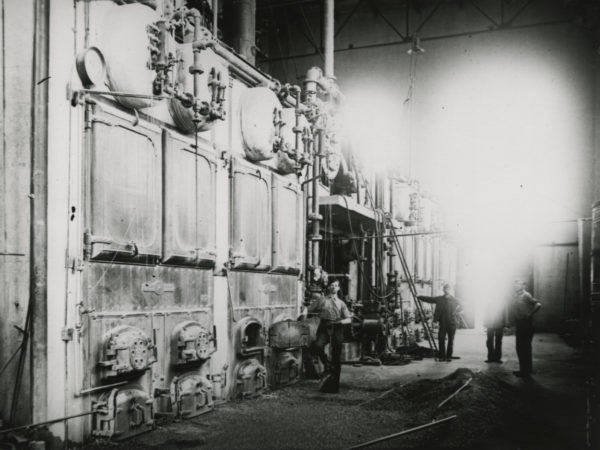 Boiler room of the Republic Steel Corporation's turbine plant in Mineville