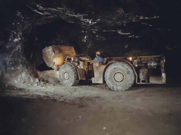 Loader in the St. Joe Minerals mine in Balmat