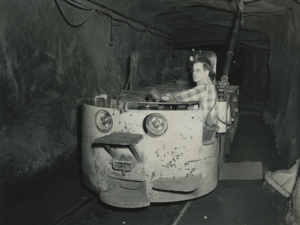 Man rides transport car into a mine in Essex
