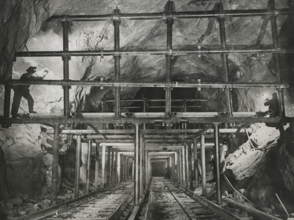 Interior view of Republic Steel Corporation mine shaft in Mineville