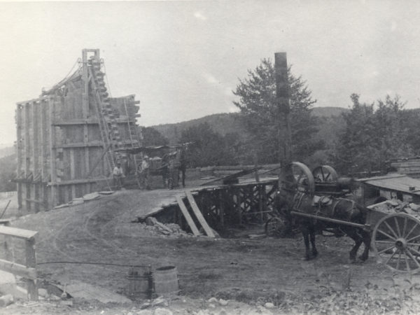 Grading stone at Barton's Old Mines in North River