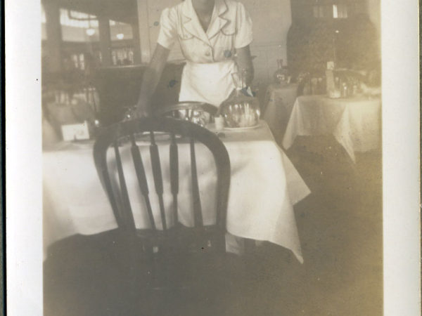 Waitress Mary Russell at the Saranac Inn in Saranac Lake
