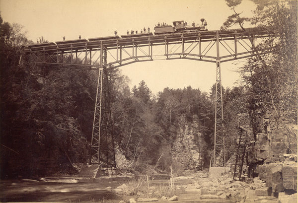 A railroad bridge over the Ausable Chasm in Keeseville