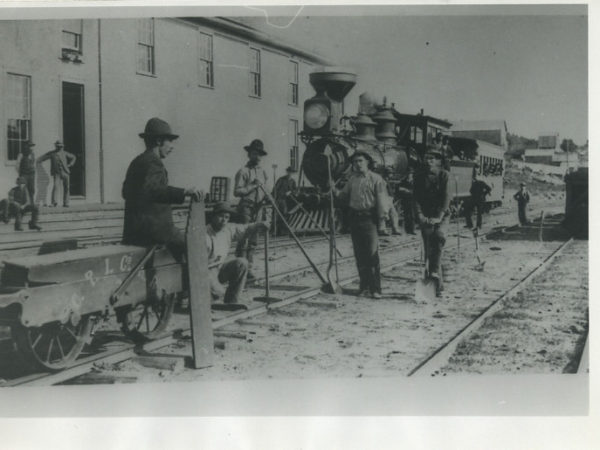 Crown Point Iron Company railroad workers in Ironville