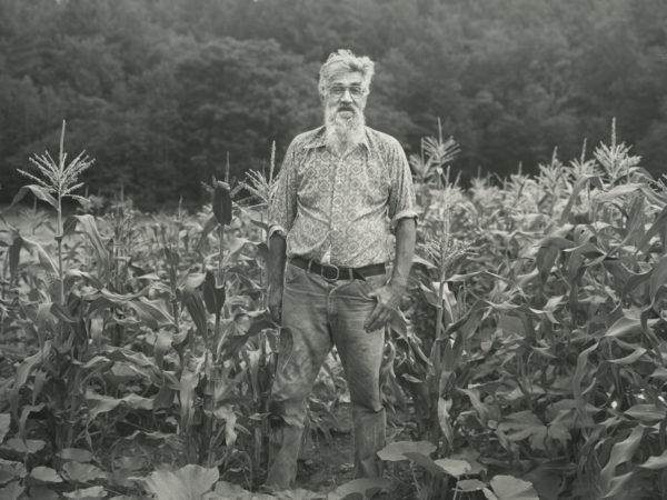 Beecher Harvey in a corn field in Warrensburg