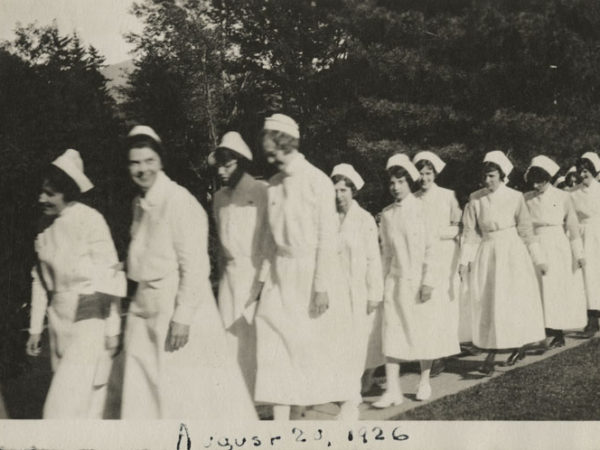 Nurses graduate from the D. Ogden Mills Training School for Nurses in Saranac Lake