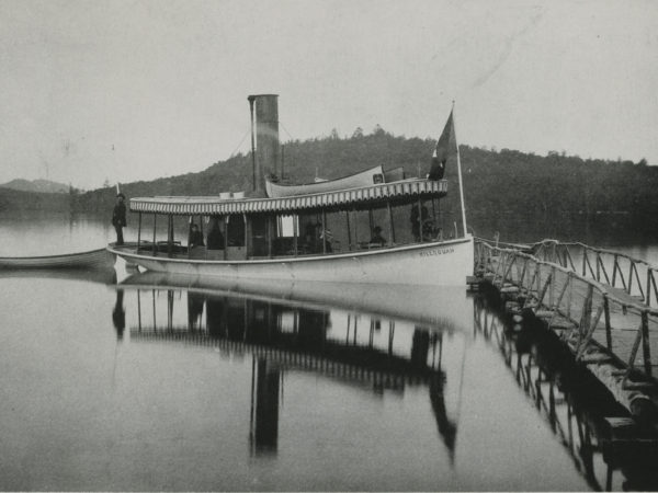 Steamboat landing at Kenwell's Hotel in Raquette Lake