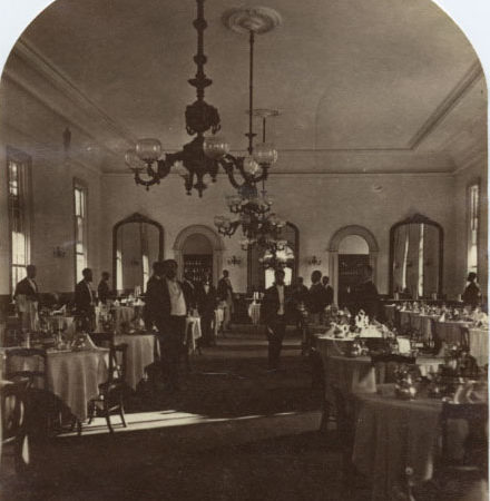 Inside the dining room of the Fort William Henry Hotel in Lake George