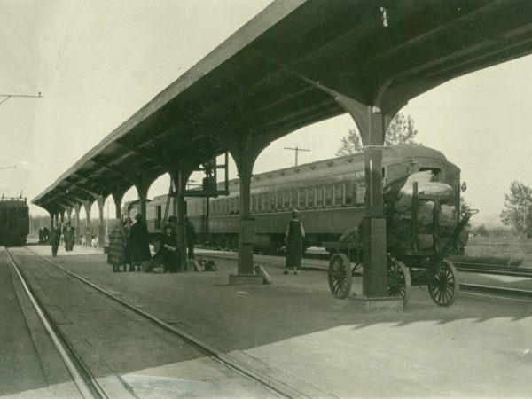 Railroad depot at Paul Smiths