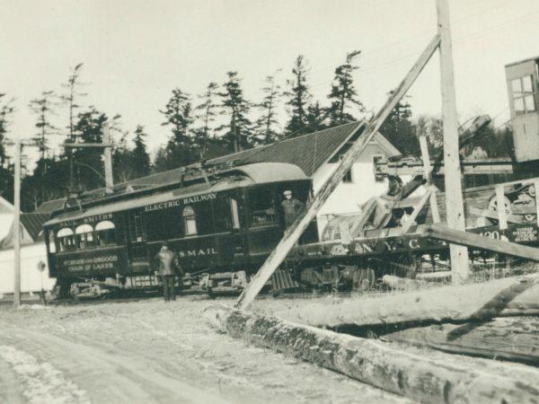 Paul Smith's Electric Railway Car in Paul Smiths
