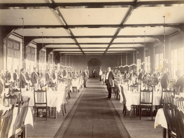 Waiters in the dining room of the Hotel Champlain