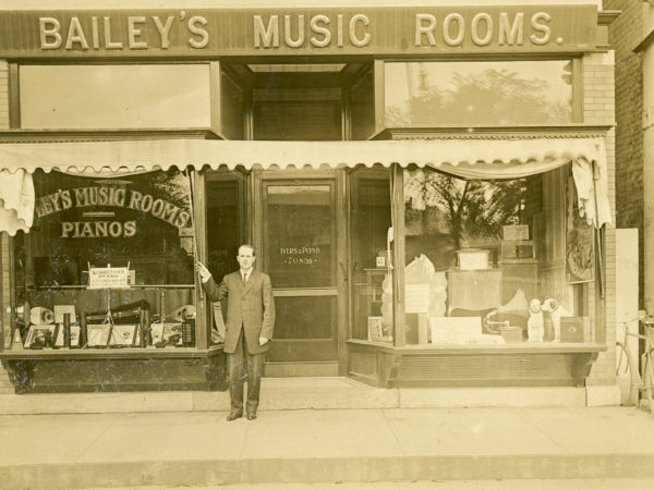 Outside the Bailey's Music Rooms in Glens Falls