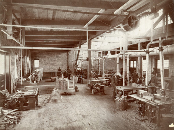 Inside the Kendrick and Brown Lumber Company in Glens Falls