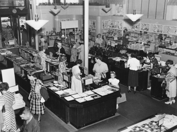Shoppers at Fowler's Department Store in Glens Falls