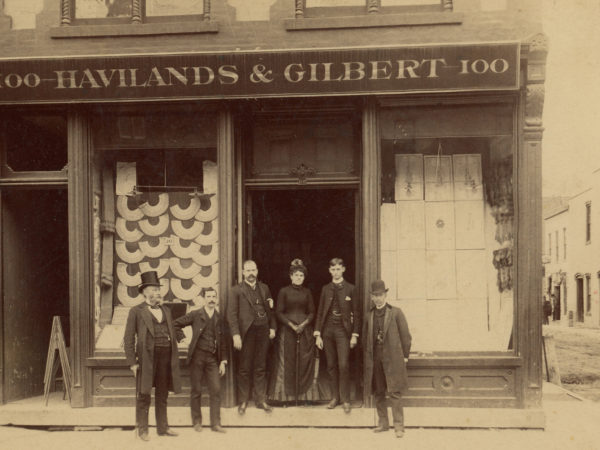 Employees outside Havilands & Gilbert in Glens Falls