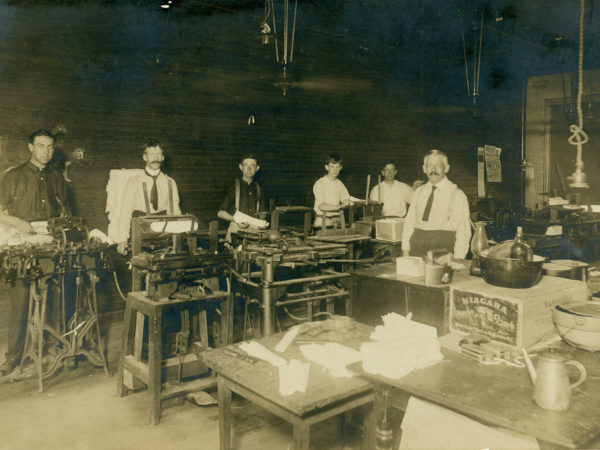 Employees inside the Norris Factory in Glens Falls