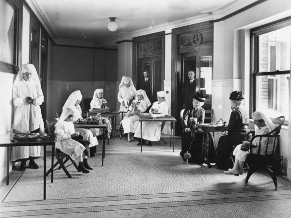 A group of nurses at the Red Cross in Glens Falls