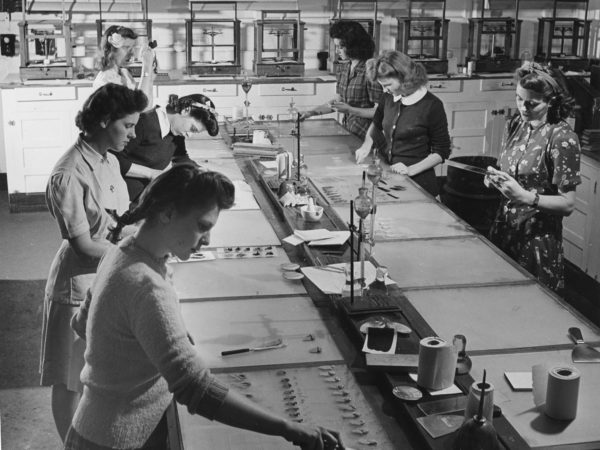 Employees in the Imperial Paper & Color Corporation in Glens Falls
