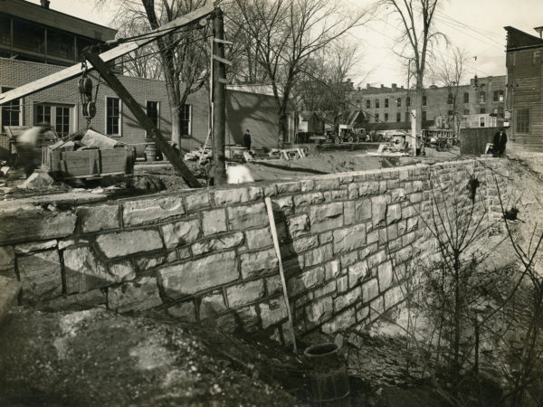 Reconstructing a retaining wall in Glens Falls